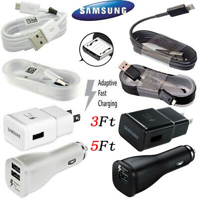 $ CDN18.30 • Buy OEM Samsung Galaxy J7 S7 S6 Edge Note 4 5 Fast Car Wall Charger OEM Micro Cable