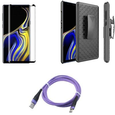 $ CDN33.74 • Buy Galaxy Note 9 - 6ft USB Cable Type-C W Screen Protector Glass W Case Belt Clip