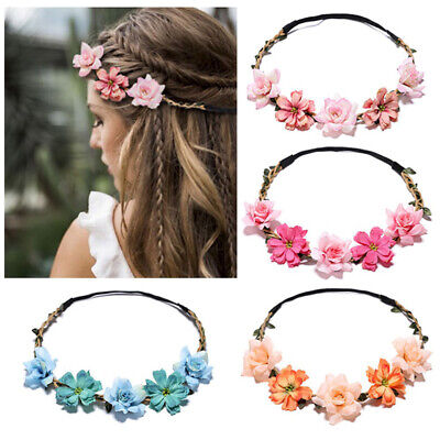 $0.99 • Buy Crown Headband Floral Women 2019 New For Girls Artificial Flower Garland 1PC