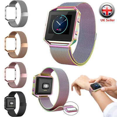 $ CDN11.93 • Buy Milanese Magnetic Wrist Band Strap +Metal Frame Replacement For Fitbit Blaze UK