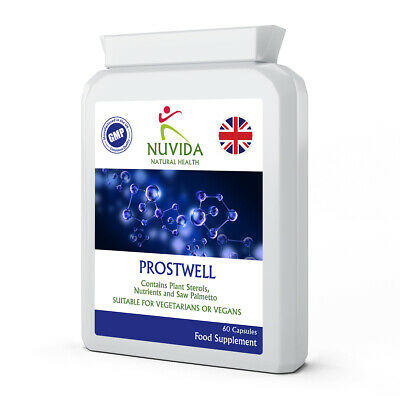 £13.95 • Buy Saw Palmetto Complex / 60 X Natural Prostwell Capsules With Mixed Plant Sterols