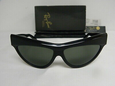 $249.99 • Buy New Vintage B&L Ray Ban Onyx Black  W0807 Cat Eye NOS Sunglasses