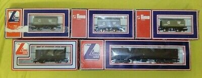 Assorted Lima GWR Freight Wagons/brown Vehicles (OO Gauge) • 6£