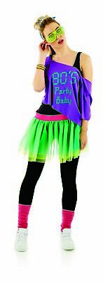 AU35.95 • Buy Womens 80s Party Baby Tutu Costume Sunglasses Ladies Retro Fancy Dress Festival