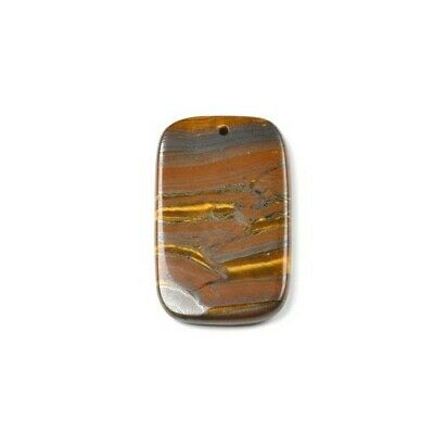 Rectangle Charm/Pendant Tiger Iron Brown 35 X 55mm   Accessory Jewellery Making • 4.19£