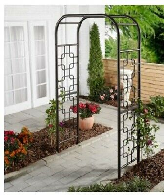 Metal Arbor Trellis Garden Backyard Decor Wedding Archway Patio Entrance  Steel U2022 104.99$