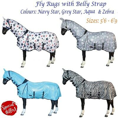 £29.99 • Buy Horse Pony Full Neck Combo Fly Sheet Belly UV Protection Cover & Mask 4 Colours