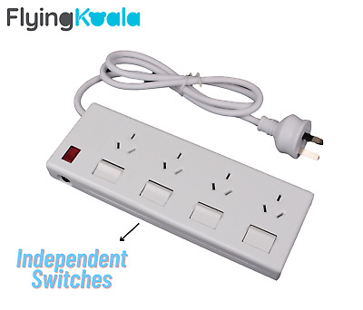 AU15 • Buy 4 Outlet Power Board Overload Protection Individual Switch With 1M Cable