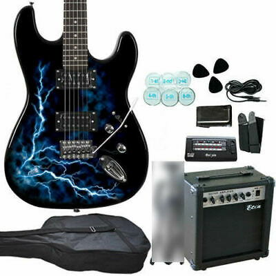AU160 • Buy New Quality Electric Guitar & Guitar Amplifier (20W) BL Tuner Strap