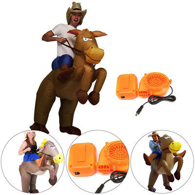 £19.89 • Buy Adult Inflatable Horse Jockey Costume Fancy Dress Outfit Races Hen Stag Night