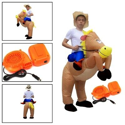 Adult Inflatable Horse Jockey Costume Fancy Dress Outfit Races Hen Stag Night • 15.59£