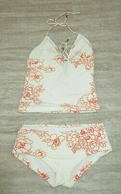 $84 • Buy NWT  ZIMMERMANN 2pcs Bikini Set In Orange-Floral /beige Size: 8 US