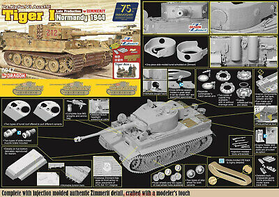 DRAGON 1/35 6947 Tiger I Late Production W/Zimmerit - Normandy 1944 TANK 2019 • 69.29£