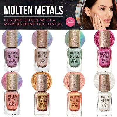 £4.49 • Buy Barry M Molten Metals Show Stopper Nail Paint Polish Varnish Chrome Effect Shade