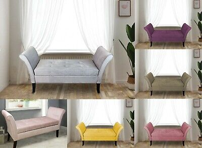 Windsor Easy To Assemble Velvet Window Seat Ottoman Storage Bed End Sofa Bench • 99.95£