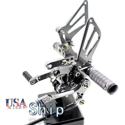 $86.48 • Buy Front Adjust Rearset Pegs For GSXR600 2000-2005 GSXR750 1996-2005 2004