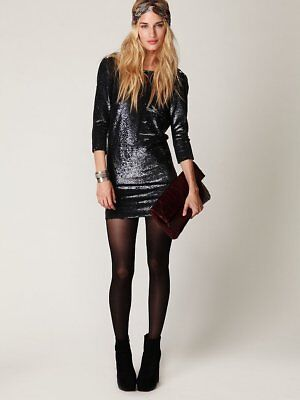 $ CDN258.03 • Buy New Free People Iro Blackheart Sequin Dress Size 0 (XS) US $650