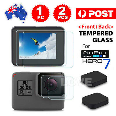 AU7.95 • Buy Tempered Screen Protector Cover Lens Cap For GoPro Hero 7 6 5 Camera Accessories