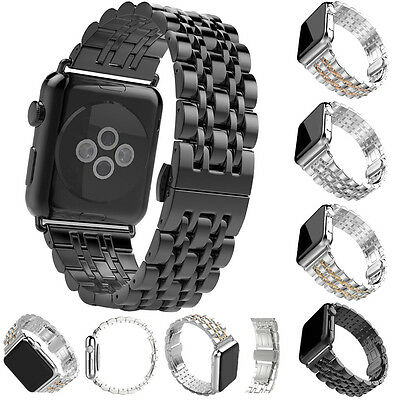$ CDN25.26 • Buy Stainless Steel Metal Bracelet Wrist Band For Apple Watch Series 5 4 3 2 40/44mm