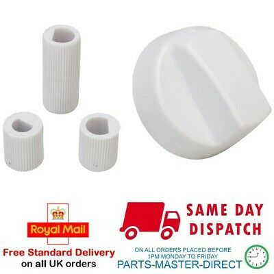 £3.49 • Buy Fits Hotpoint Creda Cannon Indesit White Cooker Oven Hob Control Knob & Adaptors