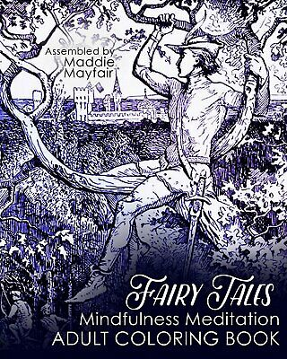 Fairy Tales Mindfulness Meditation Adult Coloring Book Colouring Books For Grown • 4.07£