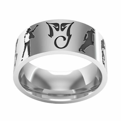 £10.53 • Buy Michael Jackson King Of Pop Stainless Steel Ring Choice Of Size