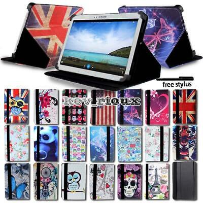 Leather Tablet Stand Folio Cover Case For 7  8  10  Samsung Galaxy Tab A A6 • 5.99£