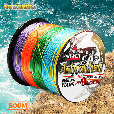 AU28.33 • Buy SuperPower Strong Braid Fishing Line 500m 8 Strands Japan Multifilament PE Braid