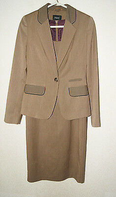 Next Brown Work Office Suit Blazer Jacket And Dress For Women Size 8 • 25£