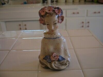$ CDN16.36 • Buy Beautiful Vintage Porcelain Corday Bust   LADY With FLOWERS   #5010
