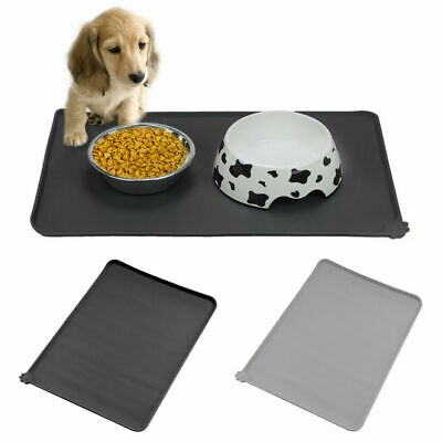 XL Pet Dog Puppy Cat Feeding Mat Silicone Pad For Dish Bowl Food Feed Placement • 6.49£