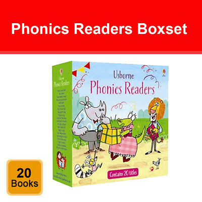Usborne Phonics Readers 20 Books Collection Box Set Childrens Reading Pack NEW • 29.99£