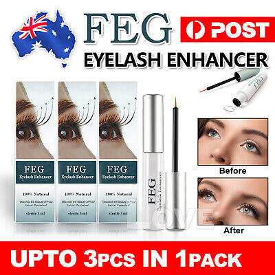 AU8.95 • Buy 2019 For FEG Natural Genuine Serum Eyelash Grow Booster Eyebrow Enhancer Eyelash