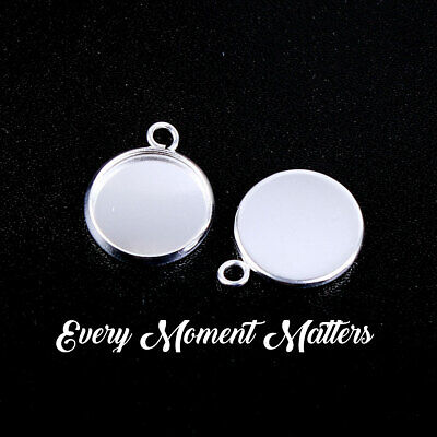 £2.39 • Buy 10 X Silver Plated ROUND CABOCHON MOUNTS FRAME SETTING Fits 12mm Embellishment