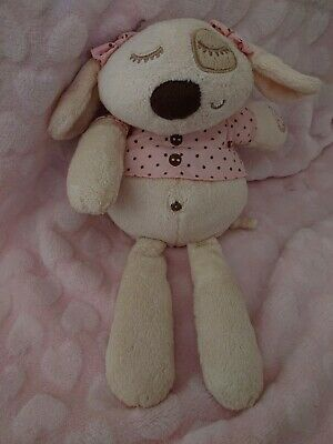 Mamas And Papas M&P Sleepy Heads Pink Puppy Dog Baby Soft Toy Comforter. • 10£
