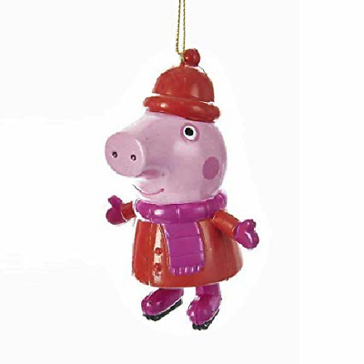 Kurt Adler Peppa Pig Wearing Winter Coat & Scarf Blow Mold Christmas Ornament • 5.90£