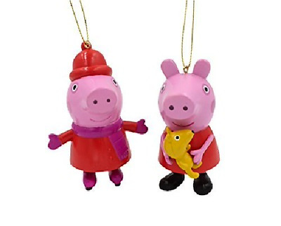Kurt Adler Set Of 2 Peppa Pig Blow Mold Christmas Ornaments • 11.14£