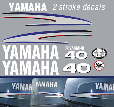 AU68 • Buy YAMAHA 40hp 2 Stroke And 4 Stroke Outboard Decals