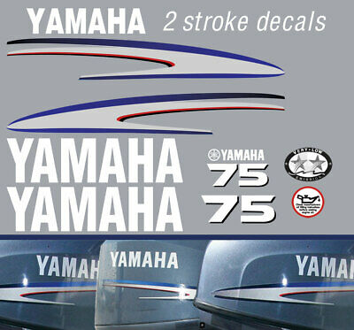 AU89 • Buy YAMAHA 75hp 2 Stroke And 4 Stroke Outboard Decals