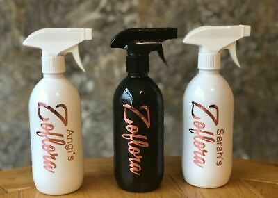 £4.99 • Buy Personalised Zoflora Spray Bottle -500ml  -  Mrs Hinch ROSE GOLD DECAL ANY NAME