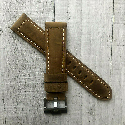 Brown Leather Watch Strap Band 20mm For Rolex Daytona Submariner GMT Datejust • 19.99£