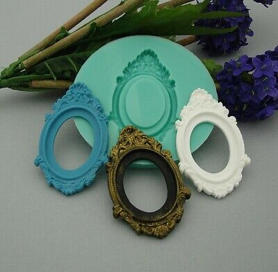 Cabochon Cameo Setting Frame  Silicone Mold  Crafts Jewelry,Resin,Polymer Clay. • 6.43£