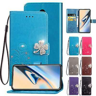 AU16.19 • Buy For OnePlus 7 Pro 6T 5T Wallet Glitter Pattern Case Stand Magnetic Leather Cover