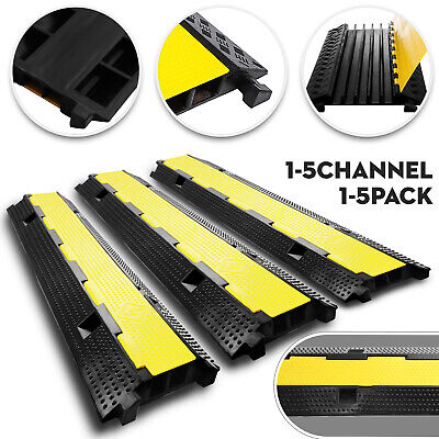£54.99 • Buy 1/2/5Channel Cable Protector Ramp Rubber Electrical Wire Cover Guard Warehouse