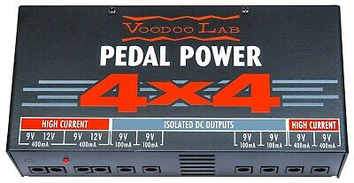$ CDN235.18 • Buy Voodoo Lab Pedal Power 4x4 Isolated Pedal Board Power Supply High Current 9V 12V