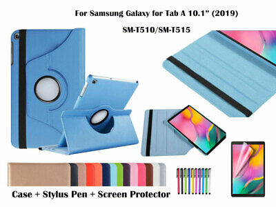 AU3.20 • Buy 360 Rotation Leather Cover Case For Samsung Galaxy Tab A 10.1(2019) T510/T515