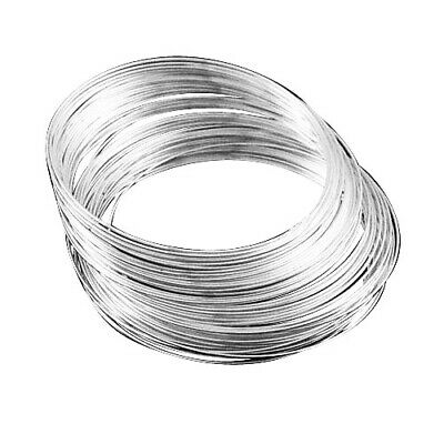 Steel Round Memory Wire Loops Silver 1mm  20 Pcs Findings DIY Jewellery Making • 2.09£