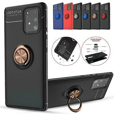 $ CDN7.67 • Buy Shockproof Phone Case Ring Magnetic Holder Stand Cover For Samsung Galaxy Models