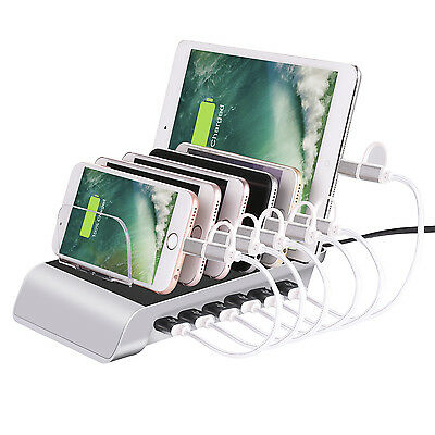 AU43.08 • Buy 6 Port USB Charging Station Dock Holder Multi Charger For IPhone X Android Phone