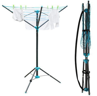 3 Arm Dryer Airer 16m Rotary Airer Washing Line Clothes Garden Outdoor Camping • 29.99£